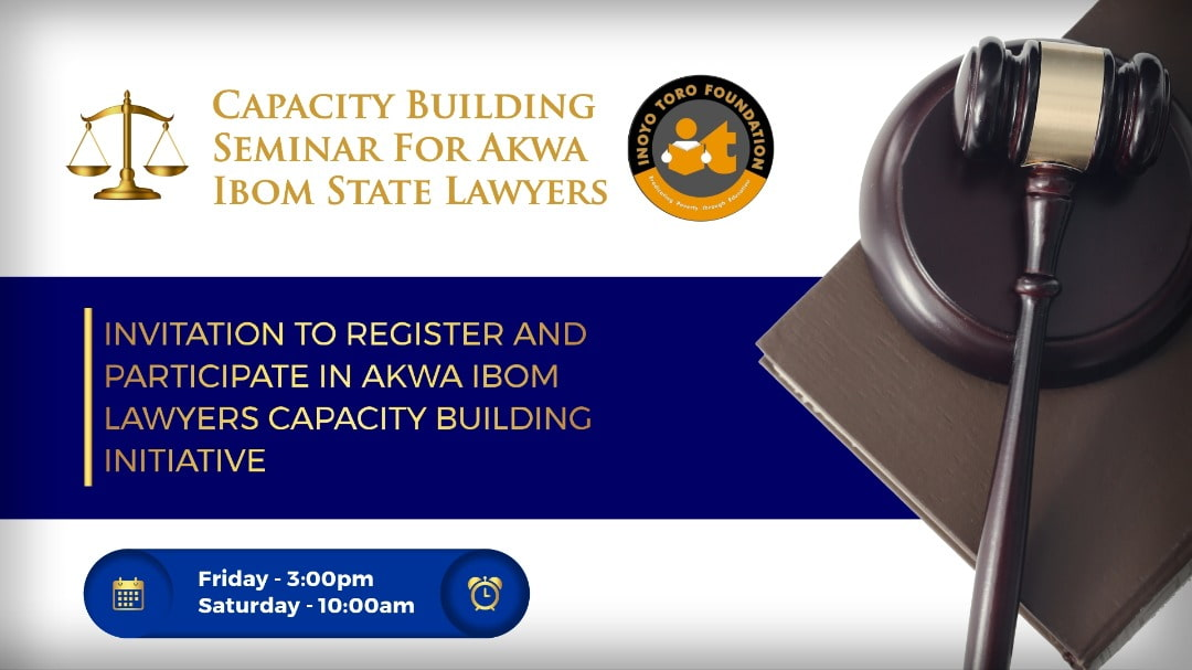 Specialized Capacity Development Programme for Akwa Ibom Lawyers poster
