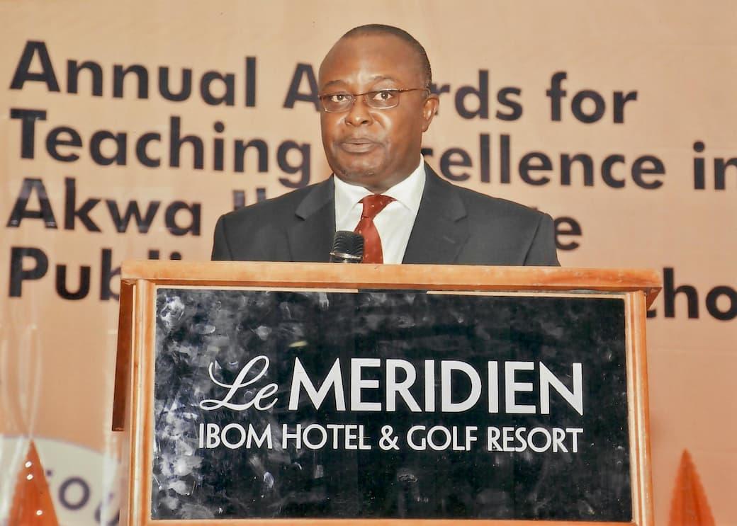 Chairman of the Event, Dr. Ini J. Urua Giving Making His Address