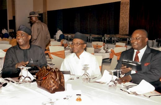 R-L, Chairman of the Event, Dr. Ini J. Urua; Guest Speaker, Mal. Nasri El-Rufai with Another Guest at the Event