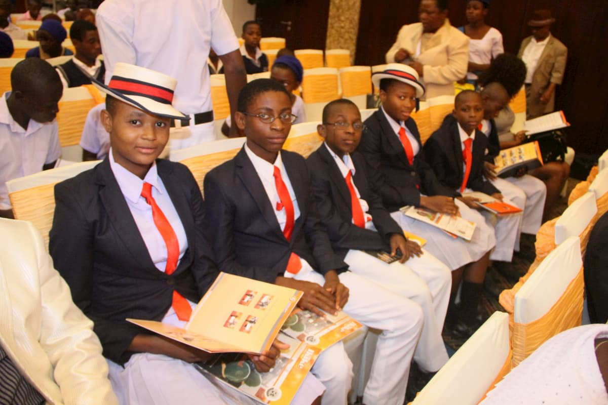 Students at the event