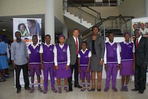 Students of Community Secondary School, Eyo-Osung, Udung Uko and their mentors Captain & Mrs Ita Itabina (c)
