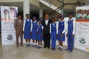 Students of Ekparakwa Community High School, Ekparakwa, Oruk-Anam LGA and their mentor