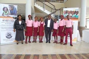 Students of Ikono Ibom Comp Sec School, Ikot Ayan, Ikono, Uyo LGA and their mentor, Dr Geroge Akpan
