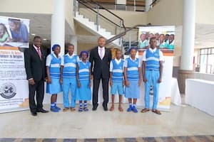 Students of Western Annang Secondary Commercial School, Ukanafun LGA and thier mentor Nkekere Udom