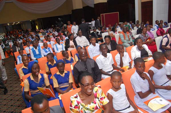 Cross section of students at the award ceremony