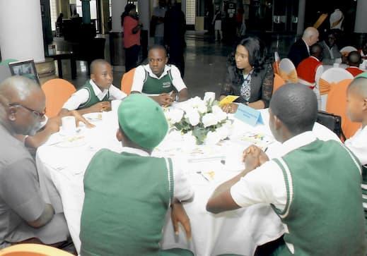 Mrs Thelma Idorenyin Mbang mentoring students
