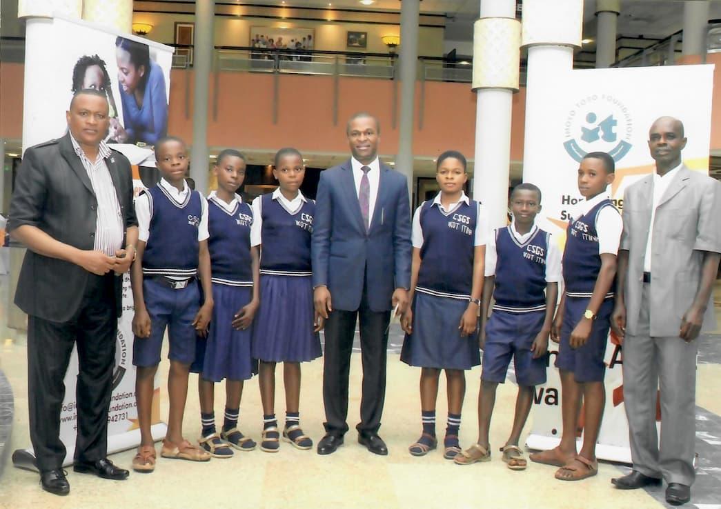 Students of Community Secondary Grammar School, Ikot Itnah with Idotenyin Isaac