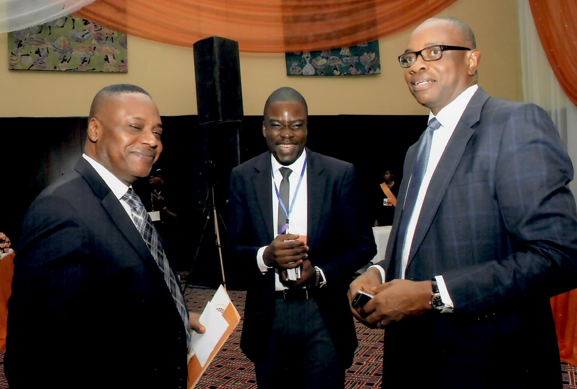 (L-R) Mr. Udom Inoyo, Idorenyin Mbang and a Guest