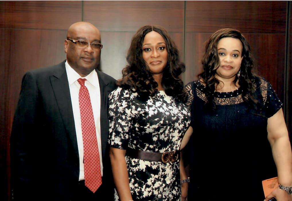 Chairperson, Inoyo Toro Foundation, Mrs. Ntekpe Inoyo posing with guests