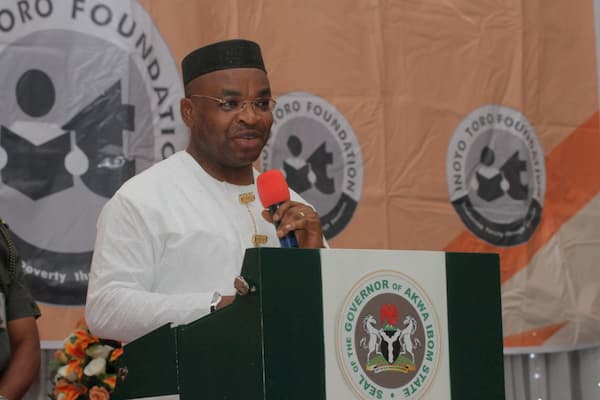 Governor of Akwa Ibom State, Udom Emmanuel, During His Speech as Guest Speaker