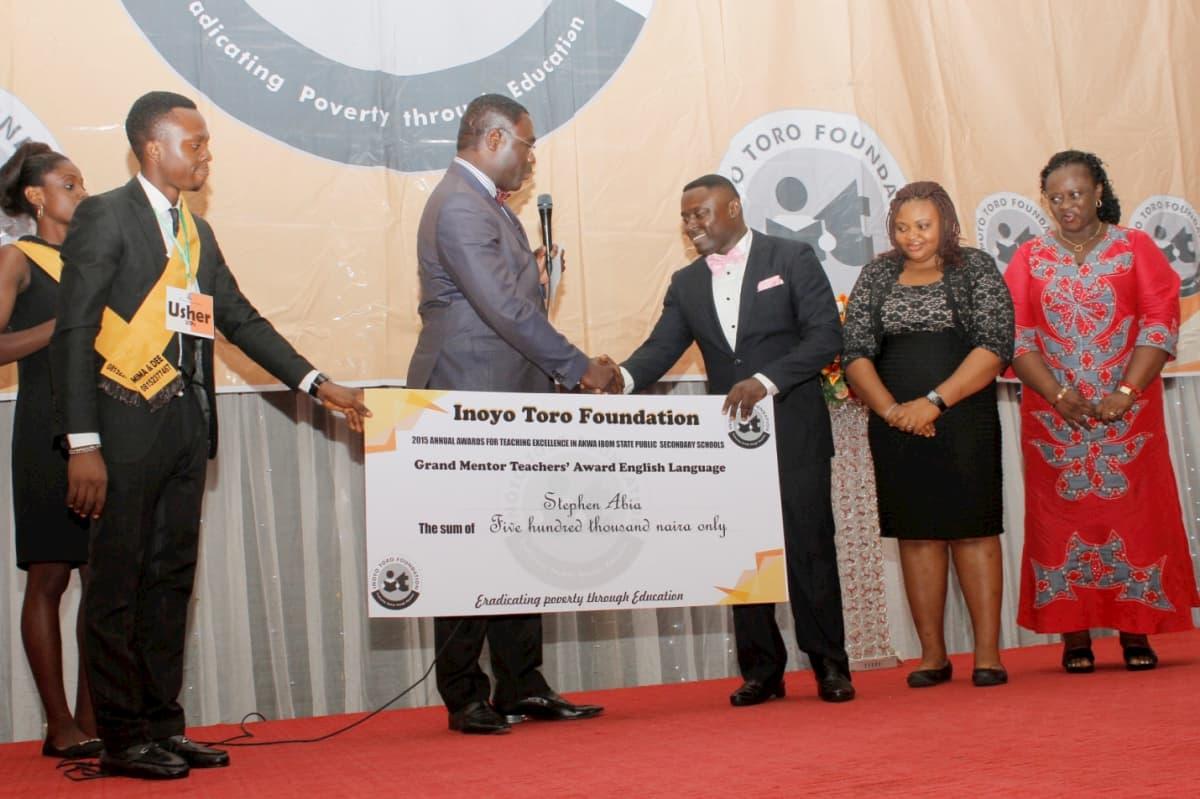 Grand Mentor Award in English Language - Stephen Abia