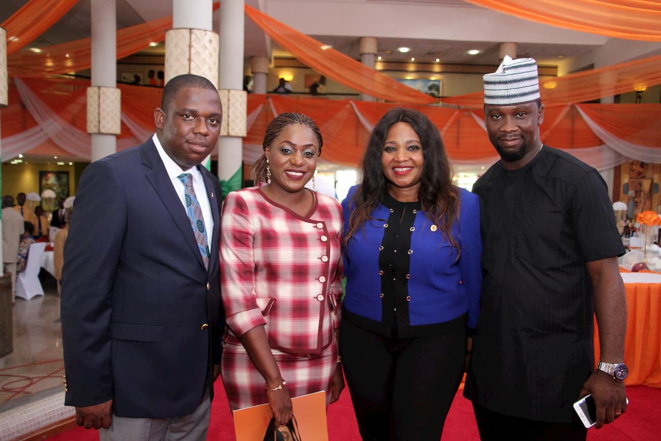 GUEST AT THE OCCASION L-R MR AND MRS RALPHAEL EDEM, MRS IBORO ETIEBIET, MR NDIANABASI UDOM