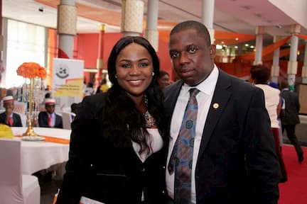 L-R THE ABLE MEDIA CONSULTANT INOYO TORO FOUNDATION AND THE EXTRAORDINARY MC RAPHAEL EDEM