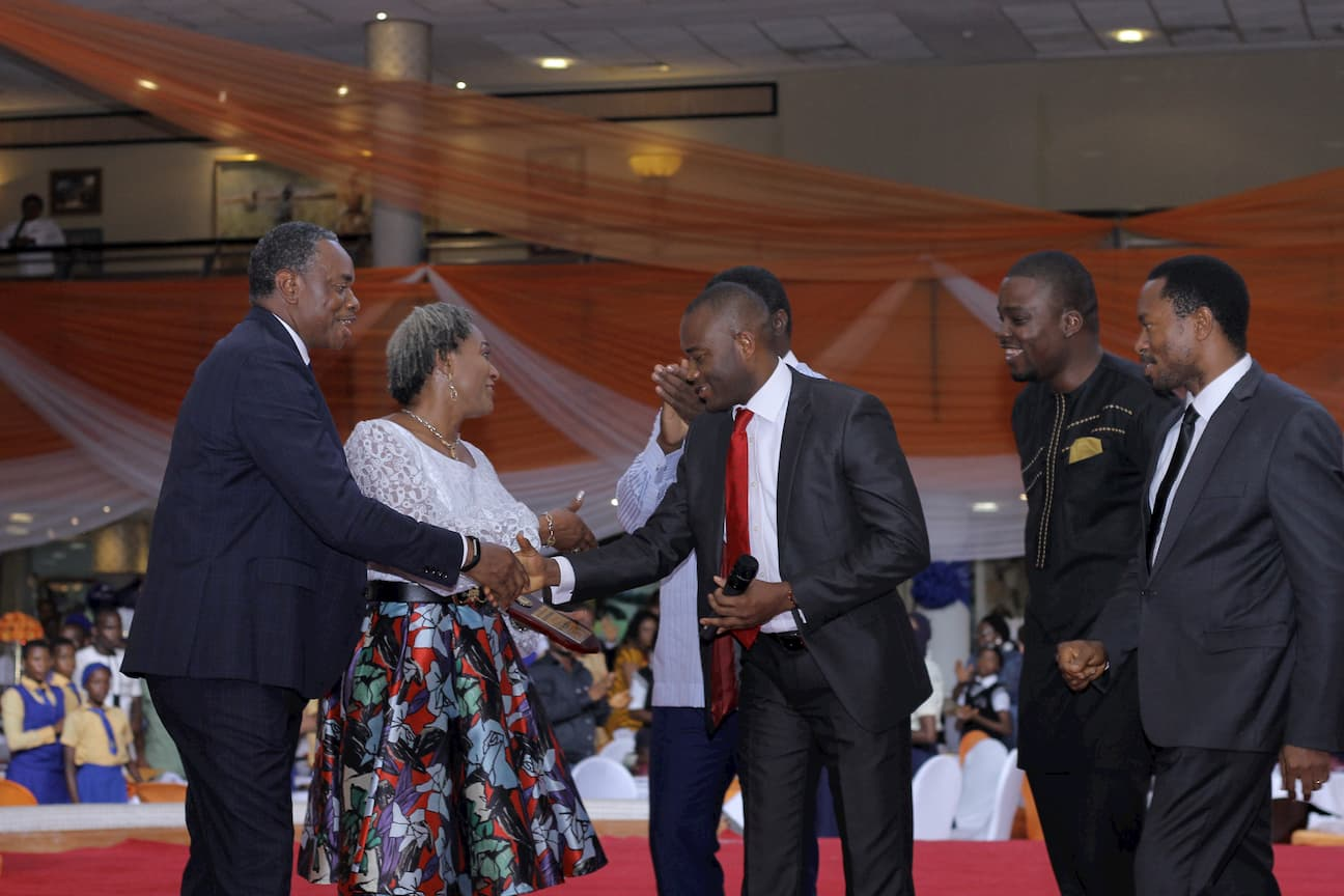 ON BEHALF OF THE MENTORS, SPONSORS, TEACHERS , STUDENTS AND PRINCIPALS AN AWARD OF ENCORAGEMENT WAS GIVEN TO THE FOUNDERS OF THE FOUNDATION