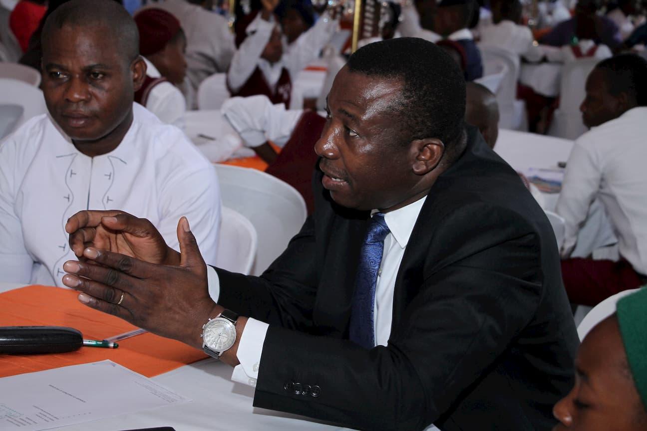 MR OKON OKON DURING THE MENTORING SESSION