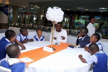 MR PAUL UMANAH MENTORING THE STUDENTS OF HIS ADOPTED SCHOOL ITAM SEC SCHOOL, ITAM