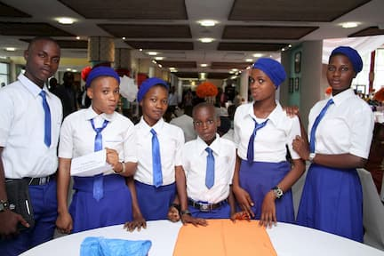 THE MENTEES OF MR ESUMO EFFIONG. STUDENTS FROM COMMUNITY SECONDARY SCHOOL OKUKO