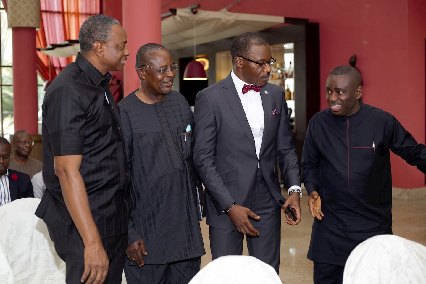 Guest at the 2018 Annual Awards from R to L, Dr. George, Mr. Charles Udoh, Mr. Ini Utuk, Mr. Udom Inoyo