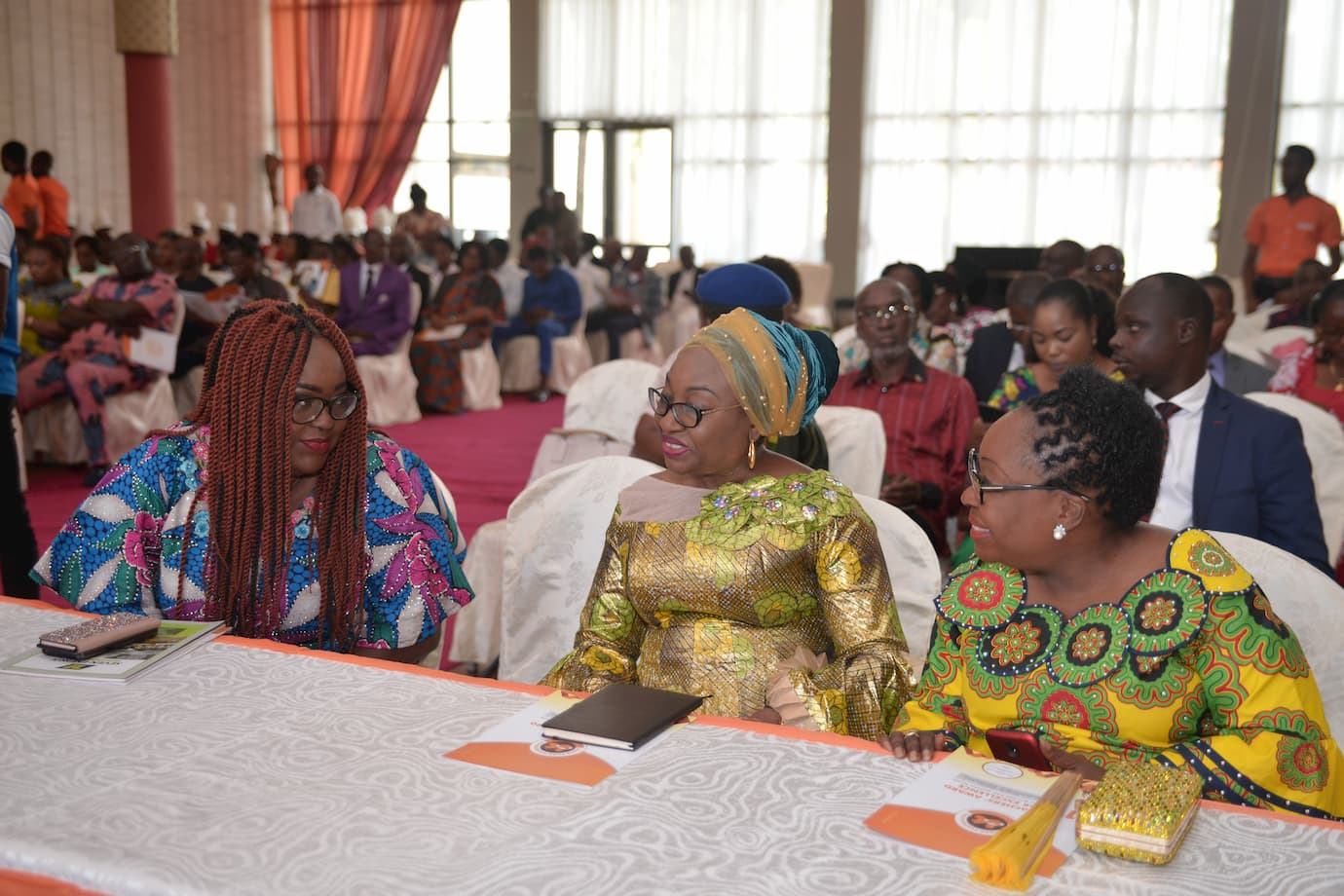 L to R Chairperson Mrs Emem Isong Misodi, Guest Speaker The Head of the Civil Service of the Federation Mrs. Winifred Oyoita