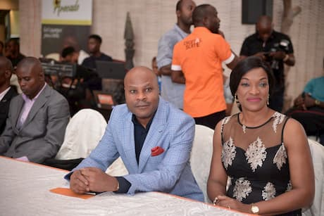 Major General Isidore Edet and Wife