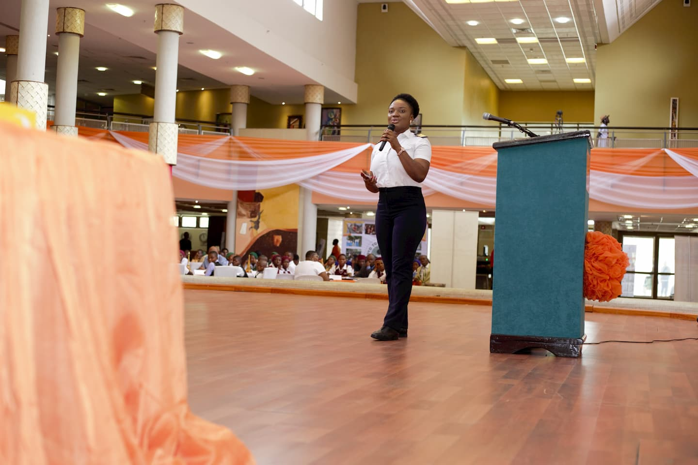 Ms Ekpoh addressing the students