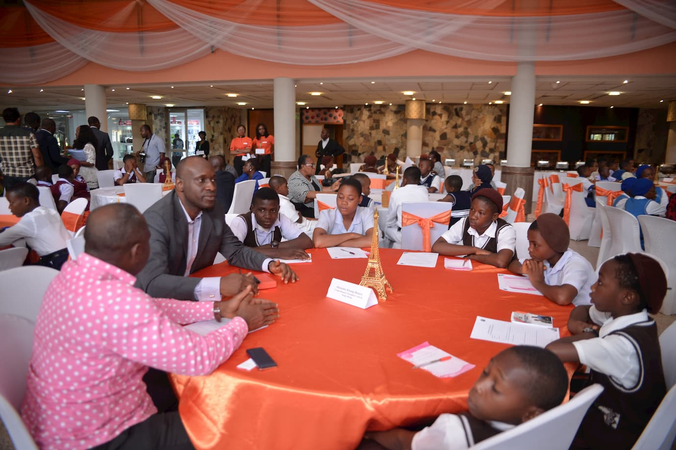 Abasumo Ekong Bassey mentoring the students ofhis adopted school Comp. Sec. Sch Nung Obong