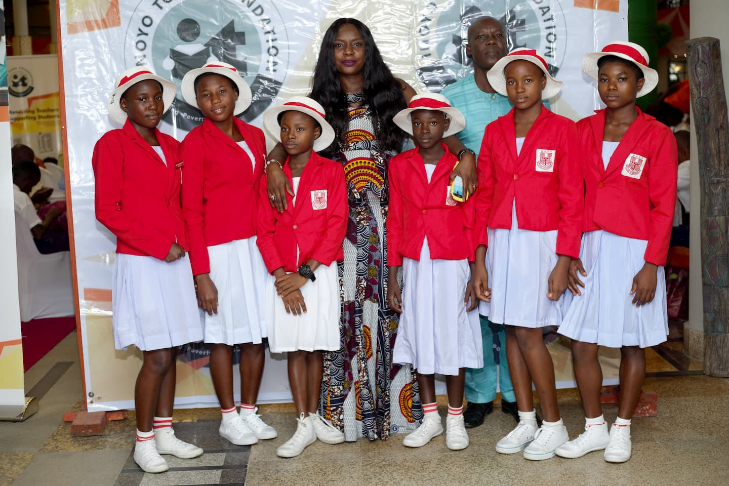 Century Group Rep and the students of their adopted school