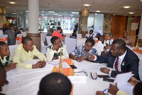 Okon Okon mentoring the students of his adopted school Methodist Sec. Sch Ibiaku Issiet