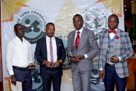 Awardees in Biology with the Grand Mentor winner 2nd to the right Mbet Udoudo