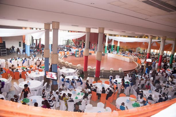 An overview of the hall during the 12th Anniversary