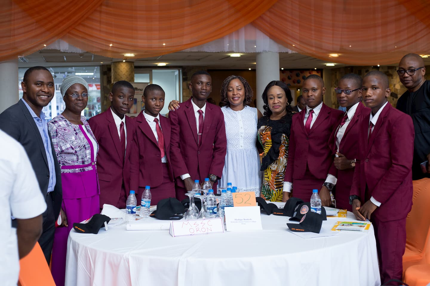 Mentor Modupe Bankole and the Guest speaker, Mrs Ini Abimbola and the student of her adopted school