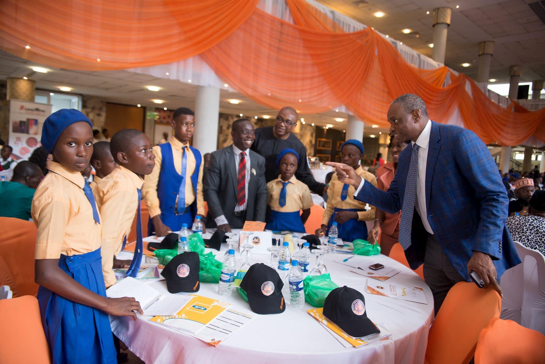 Mr. Inoyo addressing the students of St. Mary Senior Science School Ikot Nseyen