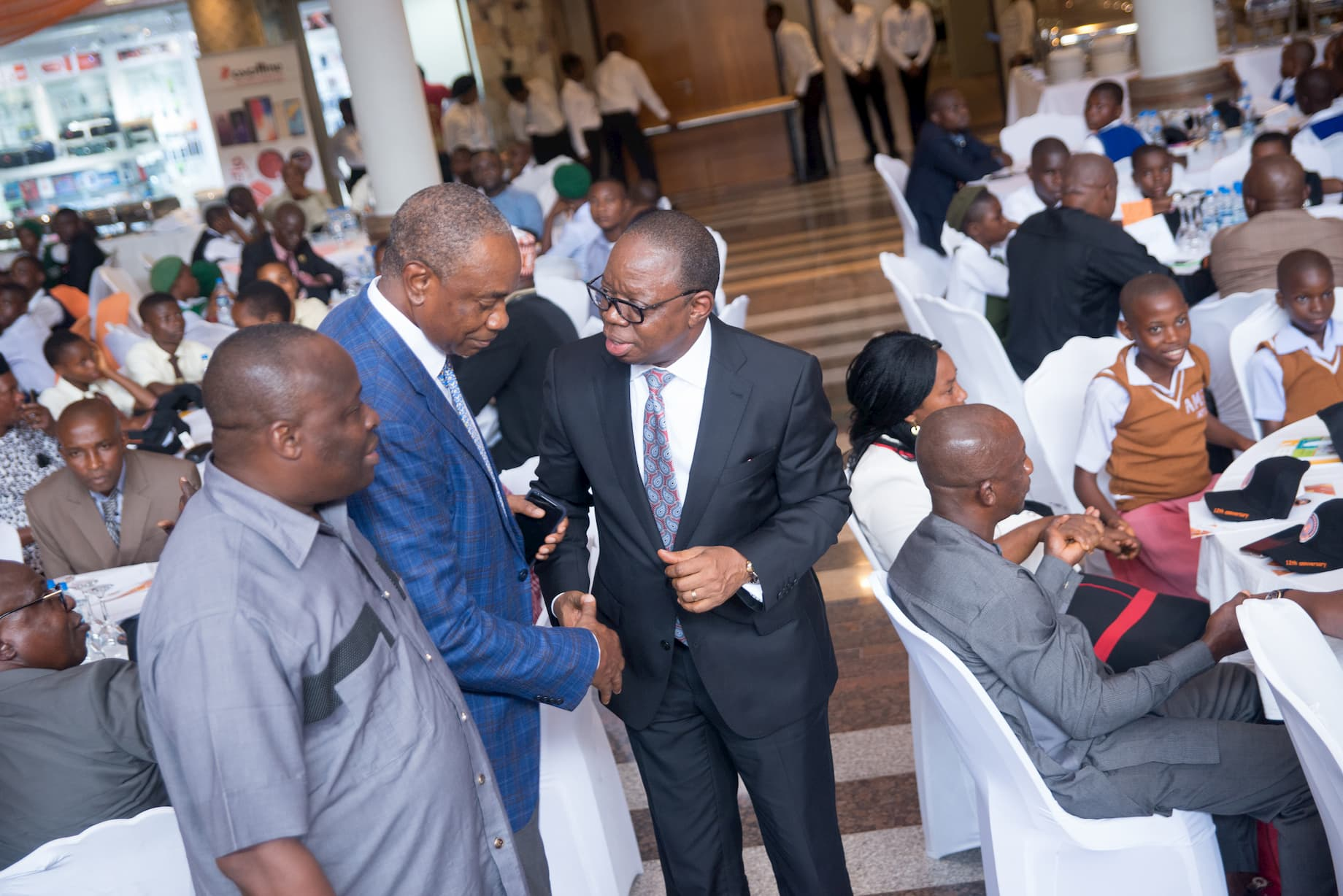 Mr. Inoyo exchanging pleasantries with Mr. Francis Usoro - a Mentor of the foundation