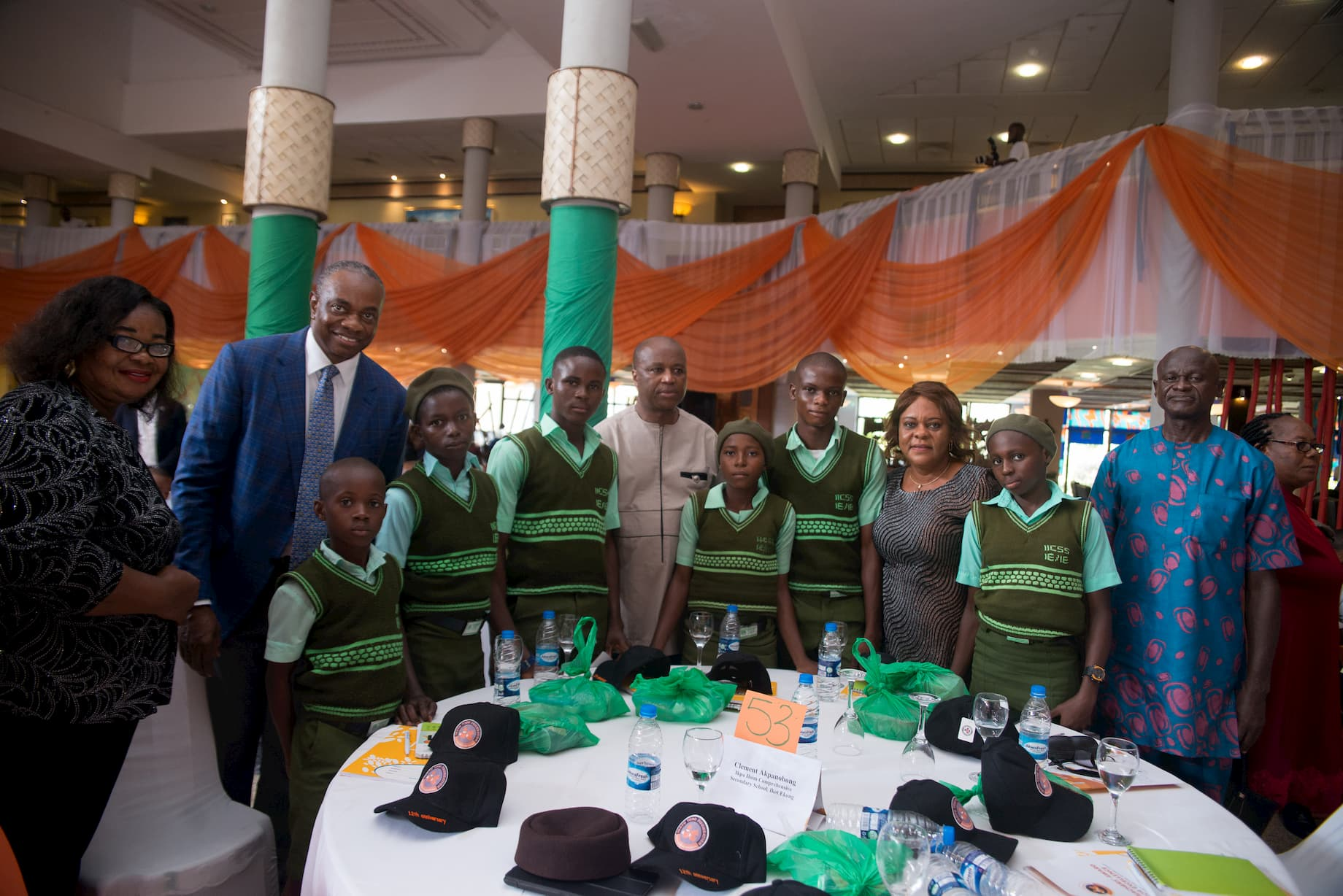 Mr. Inoyo with the students of Ikpa Ibom Com. Sec. Sch, Ikot Ekong