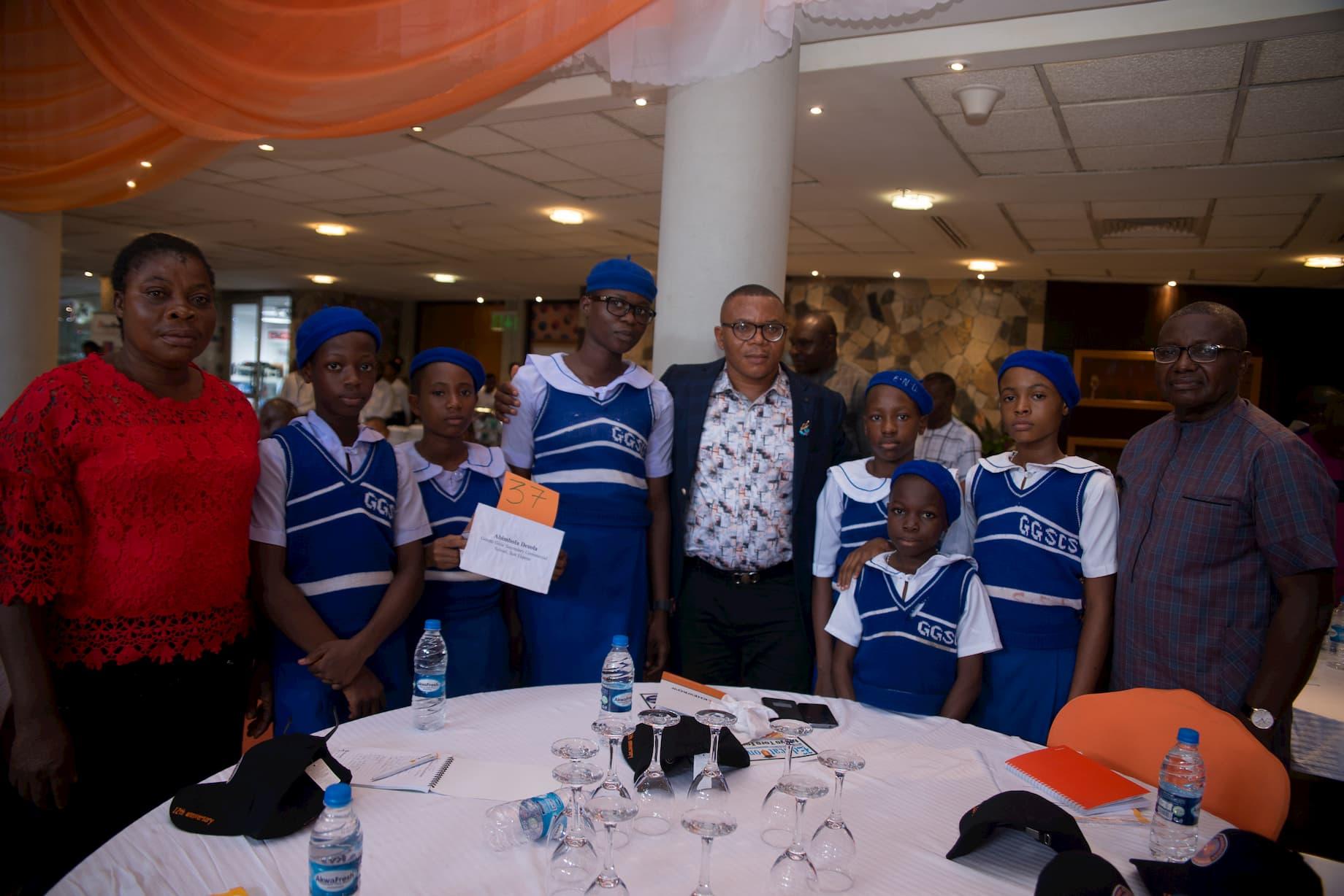 Students of Gorretti Girls Sec. Com. Sch Ikot Ekpene adopted by Abimbola Desola