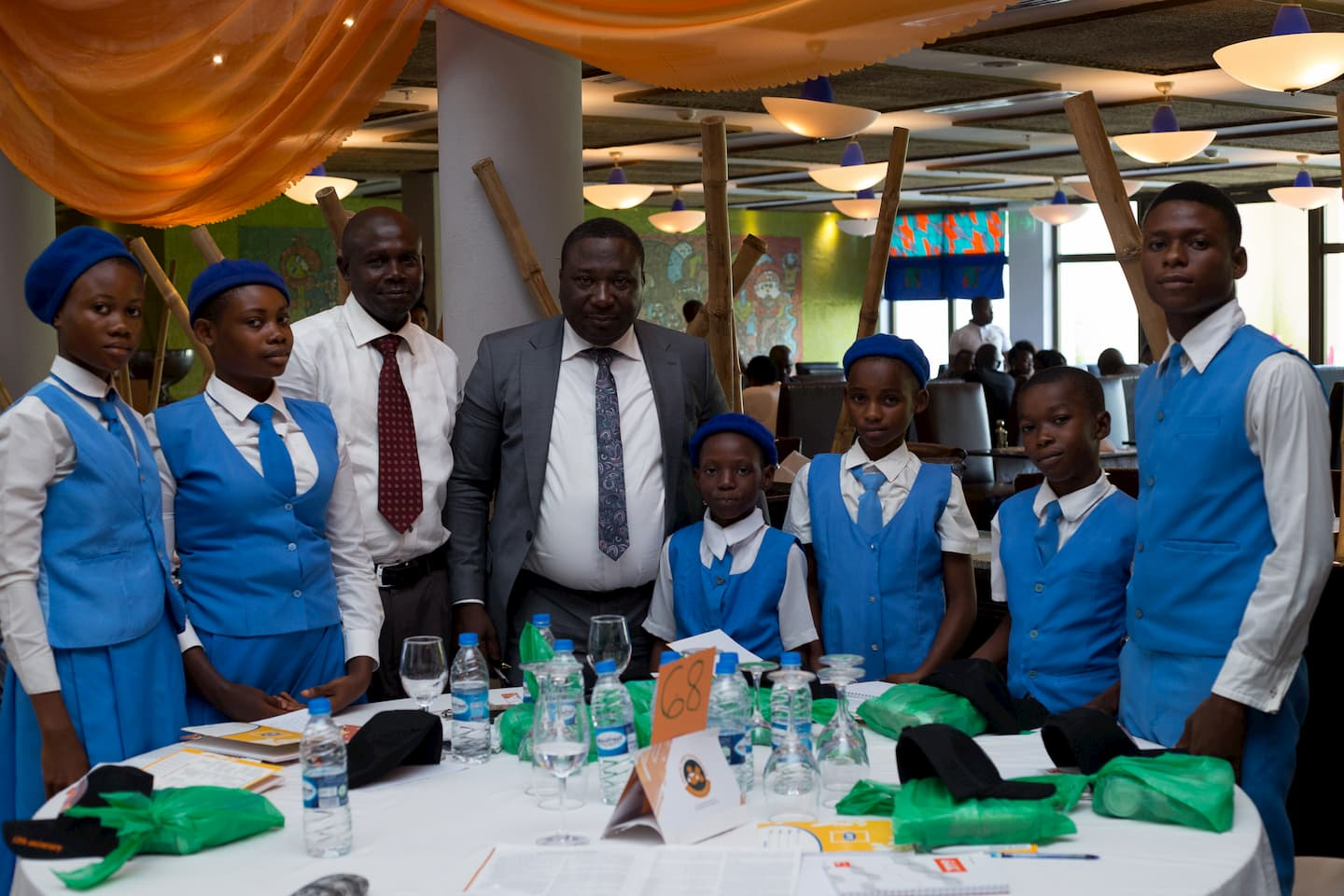 The Students of Com Sec Com Sch Ikot Akpan Ishiet a school adopted by Pastor Uwem Andrew Essien