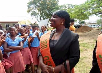 Dr. Naomi Asamudo addressing the students