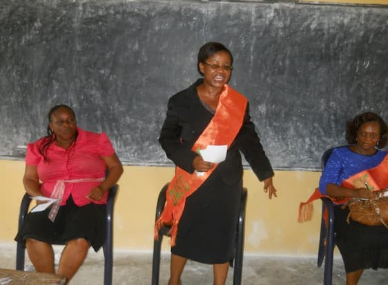 Prof. Margaret Bassey at the Career Counselling session