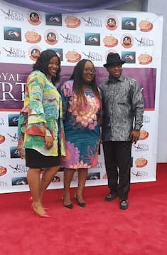 Mrs Imo Bassey Mrs Emem Isong Misodi and Mr Aniekan Willie at the grand opening ceremony